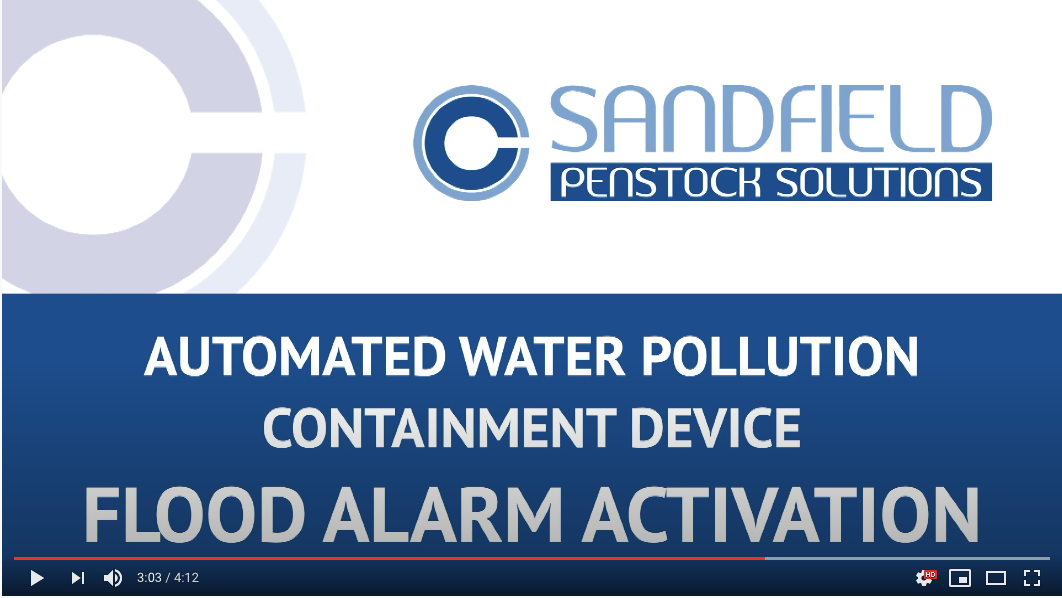 Automated Pollution Containment Device – Flood Alarm Activation